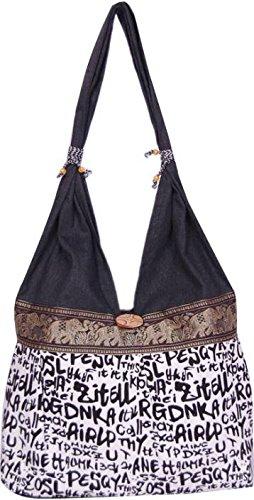 Womaniya (Handicraft Jhola Bag) Women's Shoulder Bag -Black  available at amazon for Rs.205