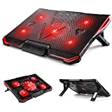 ElementDigital Laptop Cooler Cooling Pad Radiator Ultra Quiet Wind Speed Notebook Computer Laptop Cooler With Adjustable Stand Cooling Pad Adjustable Height And Speed For Gamers And Office