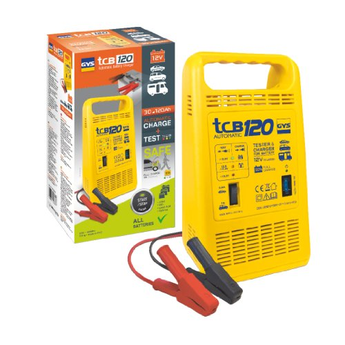 GYS TCB 120 - Caricabatterie automatico, 12 V, 30-120 Ah