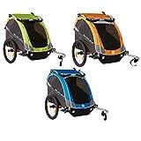 Burley Fahrrad Kinder Anhänger Wagen D`Lite Wasserabweisend Federung Kompakt 48 Liter
