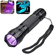 Garberiel UV Blacklight Flashlight Detector for Pet Urine and Stains Detector Tactical Scorpion Hunting with 1