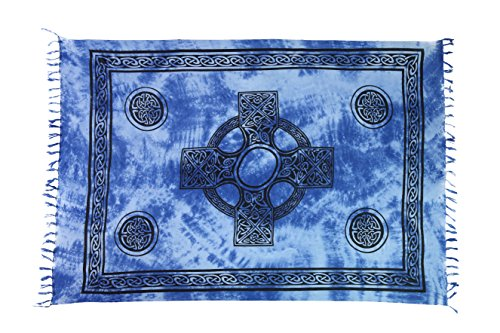 Ca 48 Modelle Sarong Pareo Wickelrock Strandtuch Handtuch Lunghi Dhoti ca. 170cm x 110cm mit Toller Stickerei Handarbeit viele Modelle Kreuz Blau
