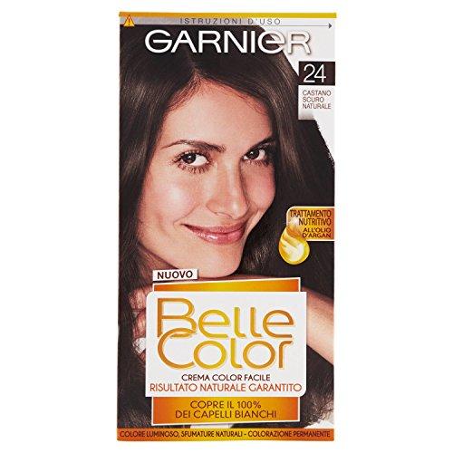 teinture pour les cheveux couleur permanent belle color 24 brun sombre