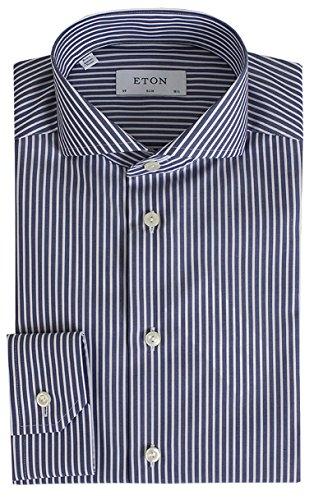 Eton 2036 73511 25 col. 73 Hemd slim Blau Weiß