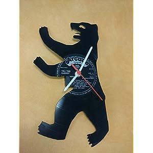 Wanduhr Uhr Skyline Berlin Bär Silhouette Chronometer aus original Vinyl Schallplatte Upcycling Design Uhr Wand-Deko Wand-Dekoration