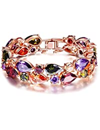 Jewels Galaxy Gold Plated Bangle for Women (Multi-Colour)(SMNJG-BNG-3002)