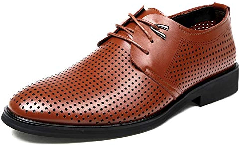 JIALUN-scarpe, Scarpe Stringate Uomo, Marronee (Marronee), 39,5 EU | Moderato Prezzo  | Maschio/Ragazze Scarpa