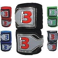 Cajas–Vendas para MMA, artes marciales, kickboxing, entrenamiento, Muay Thai–Longitud 4.5metros,–Muñequera con pulgar cortina, óptima sudor grabación y bolsa de bout3, color negro, tamaño 4.5m