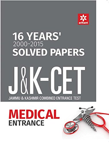 16 Years' Solved Papers J&K CET Medical Entrance