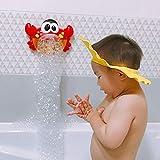 Seifenblasen Maschine, Badewannen / Garten Spielzeug Kinder Bubble Machine, Frosch Krabbe Krake Automatisiertes Auslauf Bad Bubble Spielzeuggeschenk mit Musik Lied für Kinder Geschenk (A)