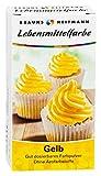 Brauns Heitmann Lebensmittelfarbe in Gelb - Farbpulver frei von AZO-Farbstoffen -Lebensmittelfarbpulver zum Verzieren von Backwaren, Füllungen, Cremes, Desserts - geschmacksneutraler Naturfarbstoff