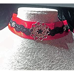 Bloodred Ornament Choker