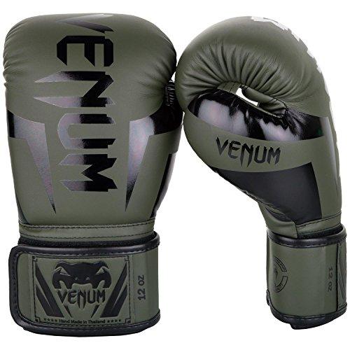 Venum Elite Boxhandschuhe, Khaki / Schwartz, 10oz