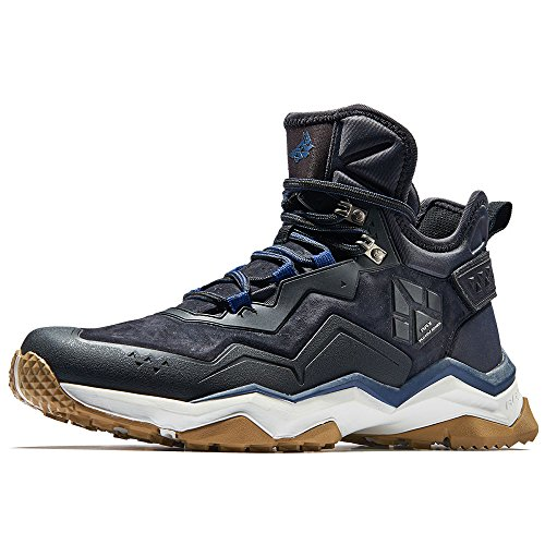 RAX Men's High Rise Hiking Boots Leather Waterproof Multifunctional Trekking Mountain Shoes