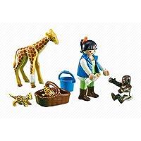 Playmobil - 7970 - Soigneuse et Bébés Animaux - Emballage Plastique, pas de boîte en carton