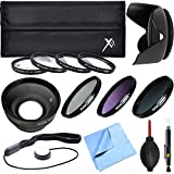 Xit Pro UV CPL FLD Lens Filter + Close-Up Macro Ultimate Accessory Kit For Lenses With A 58mm Filter Size