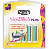 Schick Silk Effects Plus Razor Refill, 5 Count