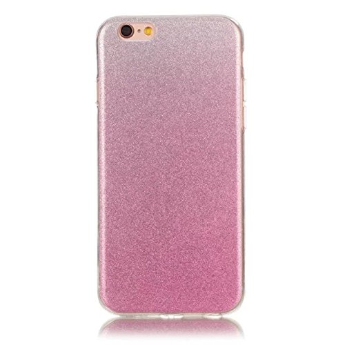 iPhone Case Cover IPhone 6s Plus Cover, Transparent Gradient Couleur Soft TPU Housse de protection Couverture souple arrière pour iPhone 6s Plus ( Color : Blue , Size : IPhone 6s Plus ) Pink