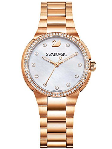 Swarovski donna city mini placcato in oro rosa orologio da polso 5221176