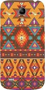 Snoogg Aztec Pattern Cream Stuff Case Cover For Samsung Galaxy S4 Mini