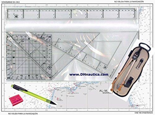 Basic Chart Plotting Kit for P.E.R (Recreational Vessel's Skipper)/Patron de Yate (Yacht Master) Spanish Sailing Qualifications