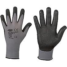 12 Paar Garten handschuhe NITRAS Strickhandschuhe BW//Nylon blaue Noppen