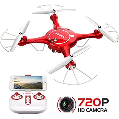 Drone with HD Camera SYMA X5UW 720P FPV Real-time Wifi Gravity Control RC RTF Quadcopter with Flight Plan Route App Control & Altitude Hold Function by SYMA