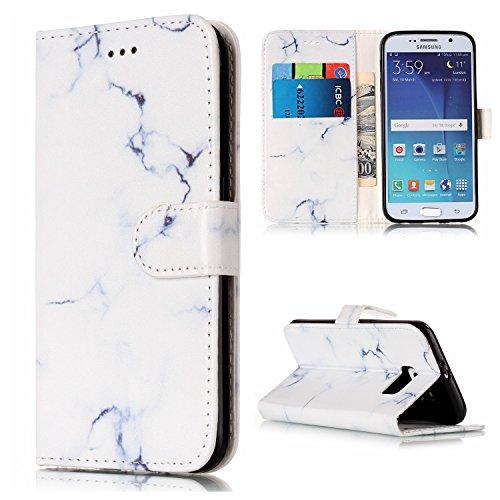 Cozy Hut Samsung Galaxy S6 Hülle Case, Bookstyle Handy hülle Premium PU-Leder Tasche Flip Case Brieftasche Etui Schutz Hülle für Samsung Galaxy S6 Ledertasche Tasche Handyhülle Schutzhülle