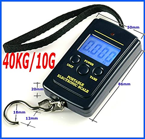 Buyersbargin® Portable T-shaped 50kg/10g and 40kg/10g LCD Digital Electronic Luggage Weight Measurement Scale with Room Temperature Display - UK SELLER (40Kg/10 Model)