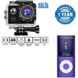 [Sponsored]Captcha 4K WIFI Sports Action Camera Ultra HD Waterproof DV Camcorder 12MP 170 Degree Wide Angle With 4th Gen MP4 Player (Video & Audio) Voice Recorder, E-book Viewer Compatible With Xiaomi, Lenovo, Apple, Samsung, Sony, Oppo, Gionee, Vivo