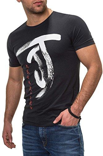 JACK & JONES Herren T-Shirt Kurzarmshirt Top Print Shirt Casual Basic O-Neck (XL, Tap Shoe/Chi/2)