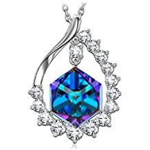 """SIVERY""""Magic of Love"""" Colour Change Necklace With Cubic Swarovski Crystal, Jewellery for Women, Gifts for Women"""