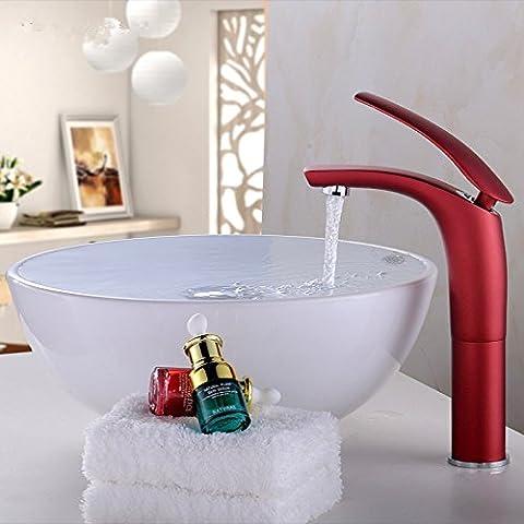 YUPD@Rame di rubinetto colorato moderno bagno caldo e freddo il