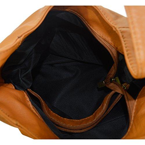 CTM Frau Schultertasche aus echtem Leder hergestellt in Italien D6170 - 41x55x12 Cm Leder