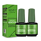 Magic Soak-Off Gel Nail Polish Remover, Professional Remover Nail Polish Delete Primer Acrylic Clean Degreaser For Nail Art Lacquer, Easily & Quickly, Don't Hurt Your Nails(2x 15ml)