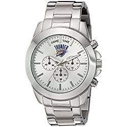 Game Time Women's 'Knock-Out' Quartz Stainless Steel Automatic Watch, Color:Silver-Toned (Model: NBA-TBY-OKC)