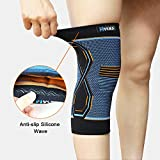 Hykes™ Knee Cap Compression Support Sleeve For Pain Relief, Cycling, Running, Sports, Basketball