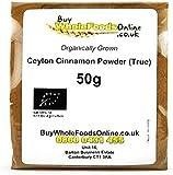 Organic Ceylon Cinnamon Powder (True) 50g