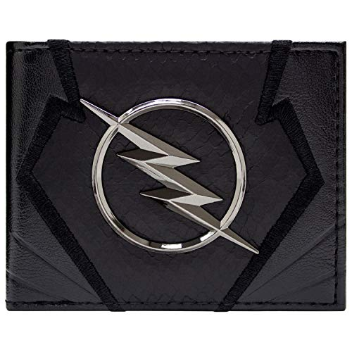 Männer Kostüm Flash - The Flash Zoom Emblem Jay Garrick Schwarz Portemonnaie Geldbörse