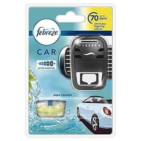 Febreze 7 ml Car Aqua Cascade Air Freshener Starter Kit - Pack of 4