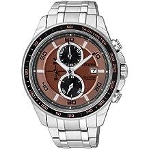 Citizen CA0347-56W - Reloj cronógrafo de cuarzo para hombre, correa de titanio multicolor
