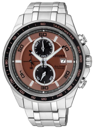 Citizen Herren-Armbanduhr XL Super Titanium Analog Quarz Titan CA0347-56W