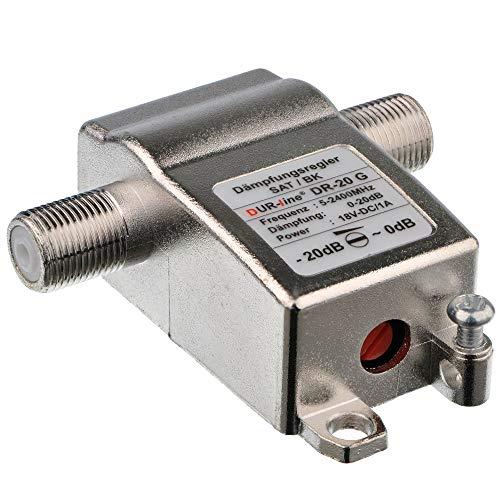 Anka-Digital DUR-line DR-20 G HD Digital - Atenuador para Antena satélite y de satélite (20 dB)