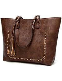 524cbe9df1c69 Vintage PU Quaste Frauen Schultertasche weiblichen Retro Täglich kausale  Totes Lady eleganten Handtasche