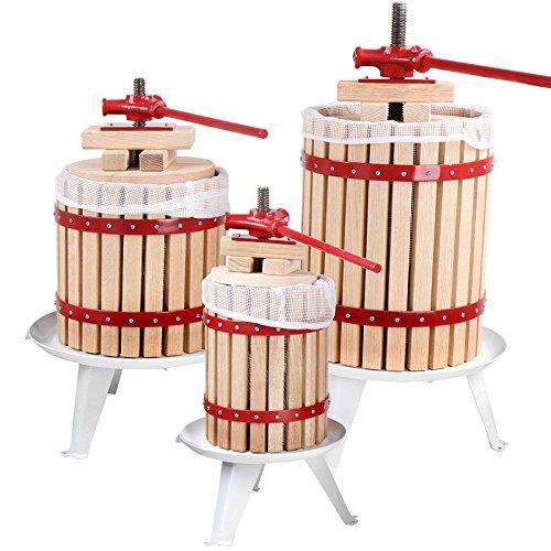 Obstpresse Saftpresse Beerenpresse Weinpresse aus Eichenholz 18L | inkl. Presstuch