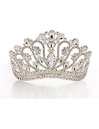 TOUSHI Matrimonio Corona Imperiale Lega Cristallo Foratura Flash Fascia per  Capelli Copricapo Sposa Abito da Sposa Accessori Ms.… 751e459aee9f