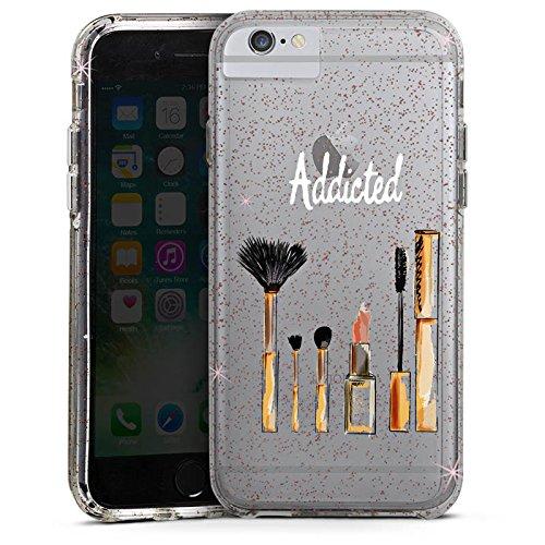 Apple iPhone 7 Plus Bumper Hülle Bumper Case Glitzer Hülle Beauty Kosmetik Make Up Bumper Case Glitzer rose gold