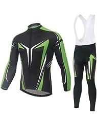 Spoz Men Cycling MTB Greenmen Gel Padded Bid Jersey Set XXL