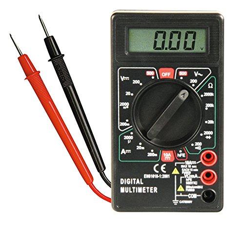 """Digitalmultimeter McPower \""""M-330D\"""" schwarz, 3½-stellig, akustischer Durchgangsprüfer"""