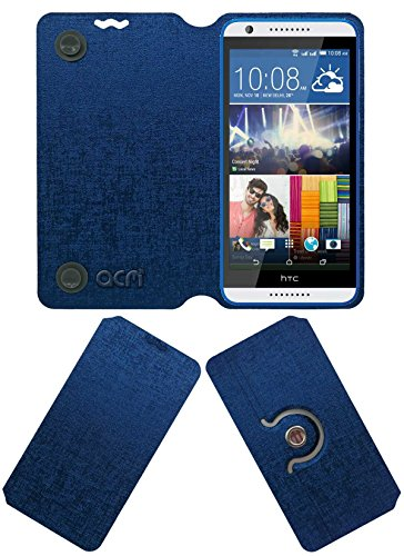 ACM Designer Rotating Flip Flap Case for HTC Desire 820g Plus Mobile Stand Cover Blue